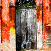 Door At The Red Corner By Darian Day Art Print
