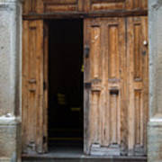 Door Entrance To Church In Guatemala Art Print
