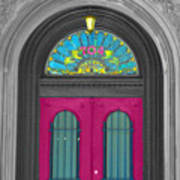 Door Fushia Art Print
