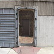 Door In The Richmond Floodwall Art Print