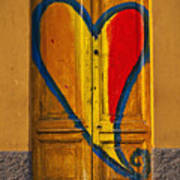 Door With Heart Art Print by Joana Kruse