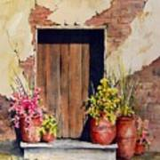 Door With Pots Art Print