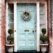 Doors Of Boston Blue Art Print