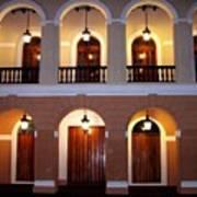 Doors Of San Juan Square Art Print