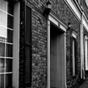 Doorway Black And White Art Print