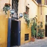 Doorway In Rome Art Print