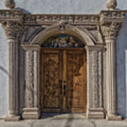 Doorway Of The Santa Teresa De Jesus Church Art Print