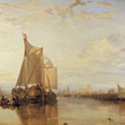 Dort Or Dordrecht The Dort Packet Boat From Rotterdam Becalmed Art Print