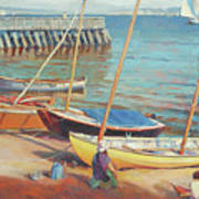 Dory Beach Art Print