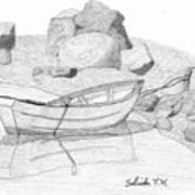 Dory In The Cove Art Print