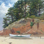 Dory On Dana's Beach Art Print