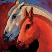 Dos Equus Art Print by Bob Coonts