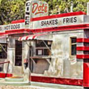 Dots Diner Bisbee Az Art Print