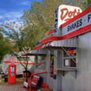 Dot's Diner In Bisbee Art Print