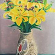 Dotted Vase Art Print
