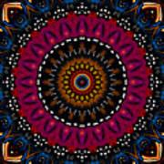 Dotted Wishes No. 5 Kaleidoscope Art Print