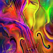 Double Bass Solo Art Print