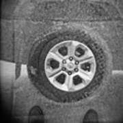 Double Exposure Manhole Cover Tire Holga Photography Art Print