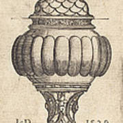 Double Goblet With Oval Decorations Art Print