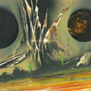 Double Moon Desert Art Print