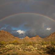 Double Rainbow Tucson Arizona Art Print