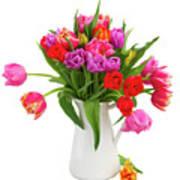 Double Tulips Bouquet Art Print