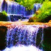 Double Waterfall Art Print