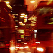 Doubledecker Bus Blur London Art Print