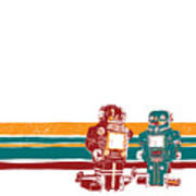 Doubotganger Robots Art Print