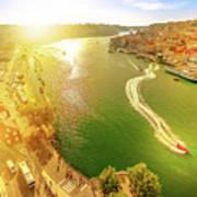 Douro River At Sunset Art Print