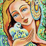 Dove Forest Fairy Art Print