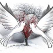 Doves Of Peace Art Print