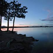 Dowdy Lake Silhouette Art Print by James Steele