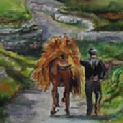 Down A Country Lane Art Print