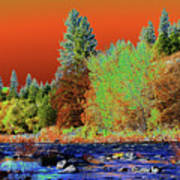 Down Along The Spokane River Art Print