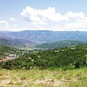 Down The Valley At Snowmass #2 Art Print