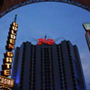 Down Town Las Vegas Art Print