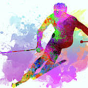 Downhill Skier Art Print