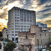 Downtown Appleton Skyline Art Print by Mark David Zahn