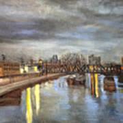 Downtown Bridge Art Print