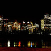 Downtown Calgary At Night Art Print