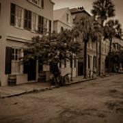 Vintage Downtown Charleston South Carolina Art Print