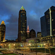 Downtown Cleveland At Dusk Art Print