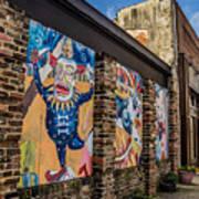 Downtown Clowns Art Print