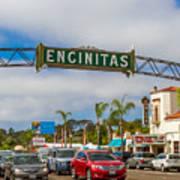 Downtown Encinitas Art Print