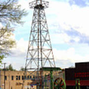 Downtown Gladewater Oil Derrick Art Print
