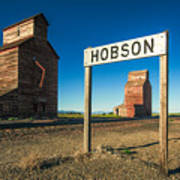 Downtown Hobson, Montana Art Print