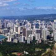 Downtown Honolulu  Art Print