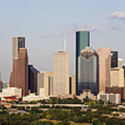 Downtown Houston Skyline Art Print