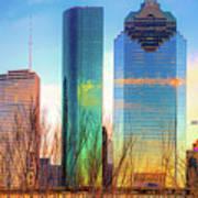 Downtown Houston Texas Skyline  Art Print